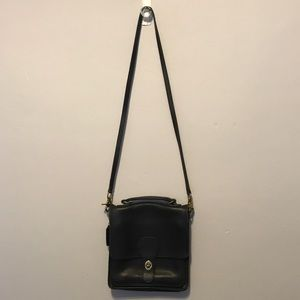 Coach Black Cross Body Leather Bag!
